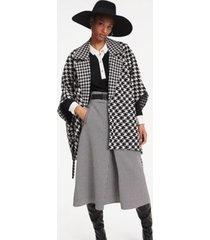 tommy hilfiger women's zendaya wool blend houndstoo check cape houndstooth -