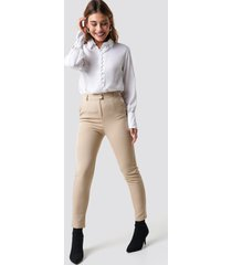 na-kd classic tailored straight suit pants - beige