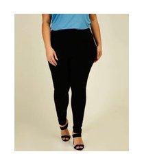 calça plus size feminina legging cintura alta