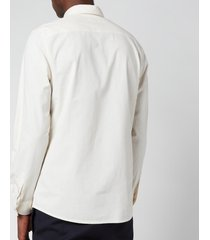 a.p.c. men's hector shirt - ecru - l