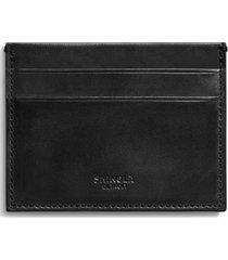 men's shinola harness leather card case - black