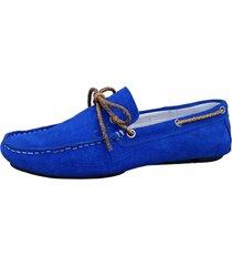 mocassim sartre driver pretã³ria azul - azul - masculino - couro - dafiti