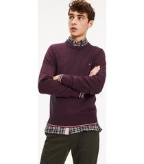 sweater regular mouline burdeo tommy hilfiger