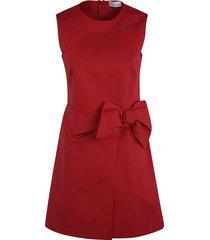 red valentino bow-detail sleeveless dress