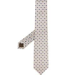 church's oval-print silk tie - neutrals