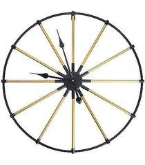 zegar metalowy czarno złoty 60 cm