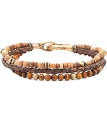 jasper and tiger eye triple bracelet