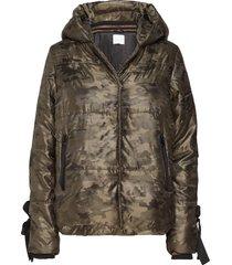 jacket in faux down w. camouflage gevoerd jack groen coster copenhagen
