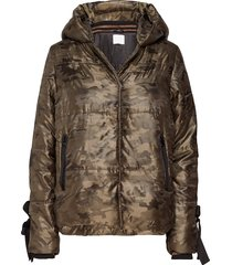 jacket in faux down w. camouflage