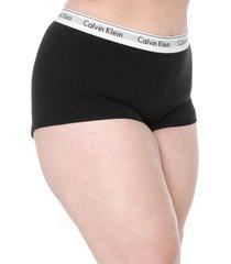 calcinha calvin klein underwear caleçon boyshort preta