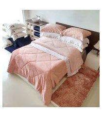 edredom plush flannel dupla face king 2,40x2,60 - toalhas appel