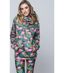 bluza hoodie flamingo jungle