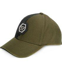 philipp plein camouflage detail baseball cap - green
