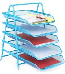 mind reader 5 tier paper tray desk organizer