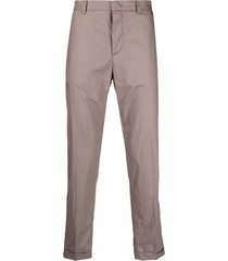 emporio armani lightweight crinkled-effect straight-leg trousers -