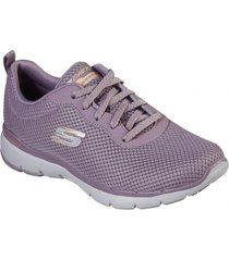 zapatilla morado flex appeal 3.0 first skechers