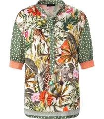 blouse ronde hals van twenty six peers groen