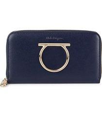 liberty zip-around leather wallet