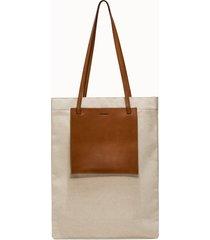 jil sander borsa pocket flat shooping colore marrone
