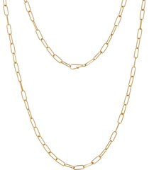 annoushka 14kt yellow gold mini short cable chain necklace