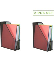 mind reader 2 piece mesh magazine file holder, file box