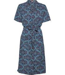 printed shirtdress dresses shirt dresses blå superdry