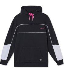 wesc men's mike panelled hoodie