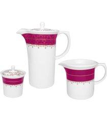 conjunto de cafã© 3 peã§as oxford flamingo dama de honra - multicolorido - dafiti