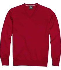 jos. a. bank traveler men's red modern fit merino sweater - size: xl