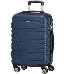 "mancini san marino collection 20"" lightweight carry-on spinner luggage bag"