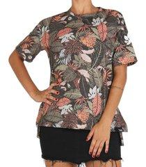 camiseta lost feminina folhagens - verde - feminino - dafiti
