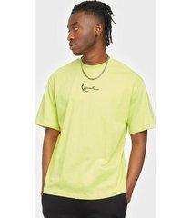 karl kani small signature tee t-shirts & linnen yellow