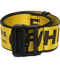 off-white man yellow and black industrial belt
