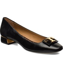 gigi 20mm round toe flat loafers låga skor svart tory burch