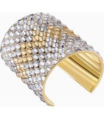 bracciale rigido notorious, multicolore, placcato oro