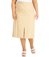 alfani plus size front-seamed skirt, created for macy's