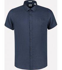 dstrezzed linnen overhemd blauw