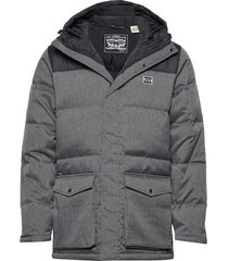 down puffer parka dark heather gevoerd jack grijs levi´s men