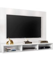 "painel bancada suspensa para tv atã© 55"" quartzo branco - mã³veis leã£o - multicolorido - dafiti"
