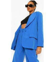 oversized blazer met knopen, bright blue