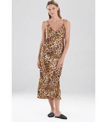 natori cheetah nightgown sleepwear pajamas & loungewear, women's, size l natori