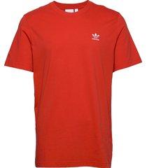 essential tee t-shirts short-sleeved röd adidas originals