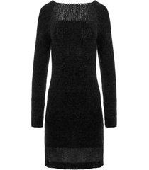 sukienka z mgłą czarna