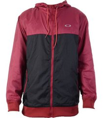 jaqueta oakley windbreaker blocked masculino