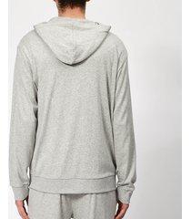 calvin klein men's full zip lounge hoodie - grey heather - xl - grey