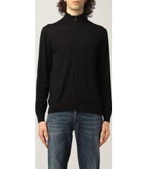 emporio armani sweater emporio armani cardigan with zipper in virgin wool