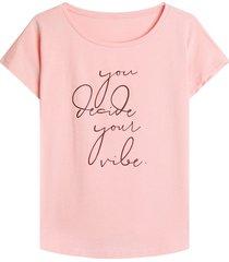 camiseta m/c decide color rosado, talla l