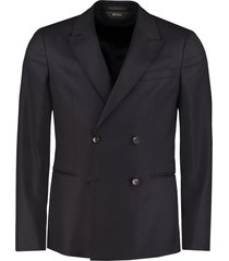 z zegna double-breasted wool jacket