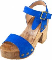 sandalia cuero amily azul amano shoes