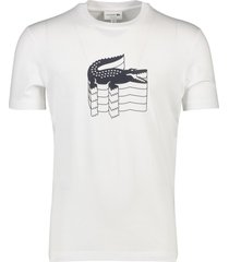 lacoste t-shirt wit logo